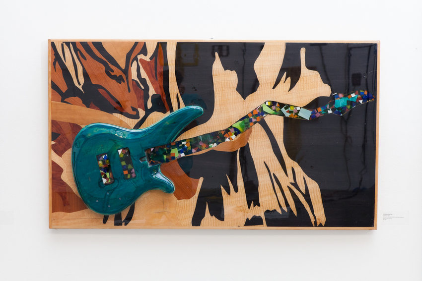 Art piece: Guitarra Azul by Christian Barrios