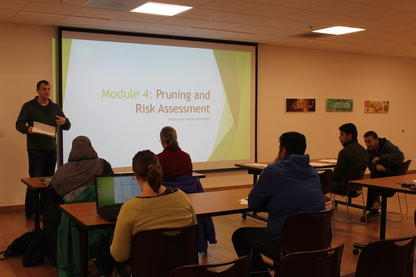 Students meet Tuesday and Thursday evenings for class at the Muslim Educational Trust center in Tigard