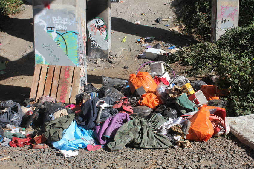 Photo of garbage that was picked up by RID Patrol