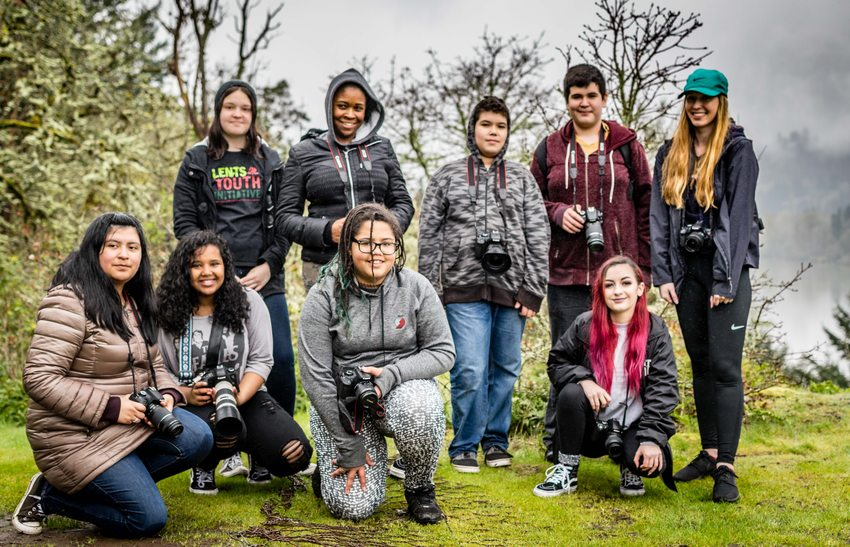 photo of ROSE Community Development students at Canemah Bluff Nature Park
