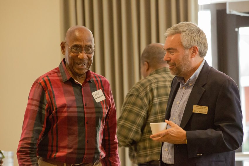 Photo of Ed Washington and Mark Ottenad at leadership forum