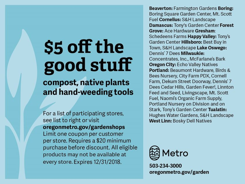 image of 2018 natural gardening coupon