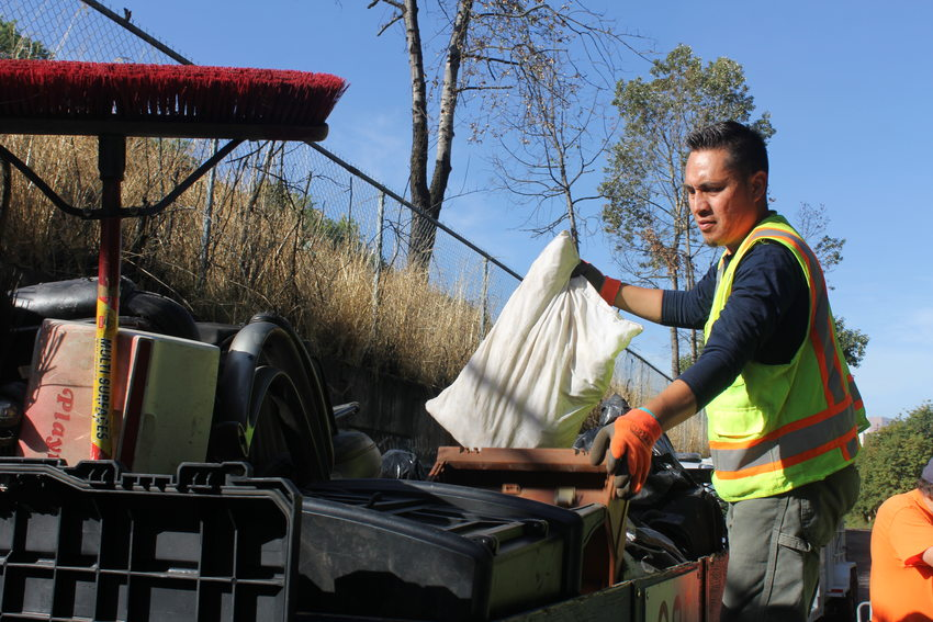 RID Patrol crew supervisor Juan Garcia cleaned up along an area of 1-84 last summer.
