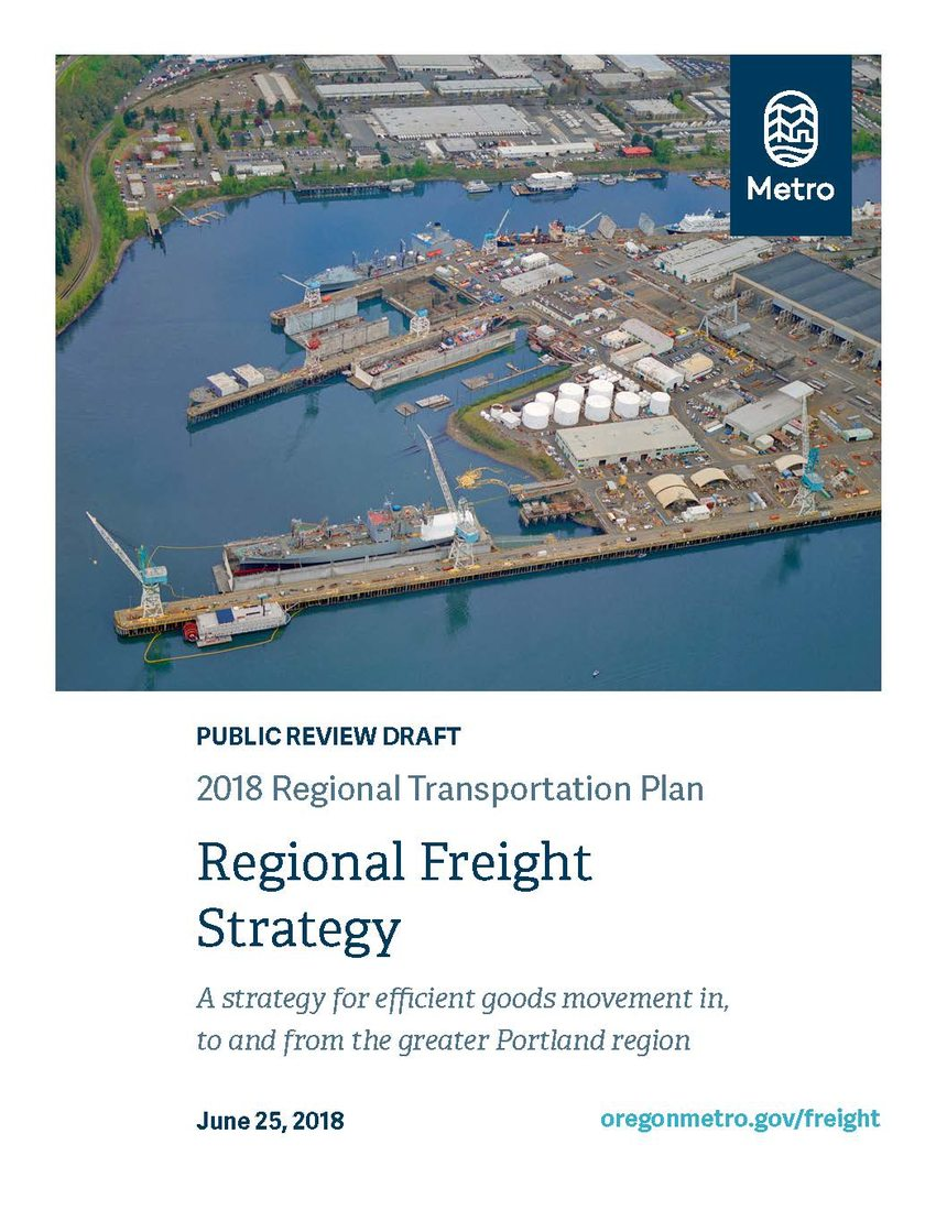2018 RTP Regional Freight Strategy cover