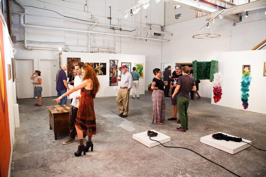 Art exhibit opening reception