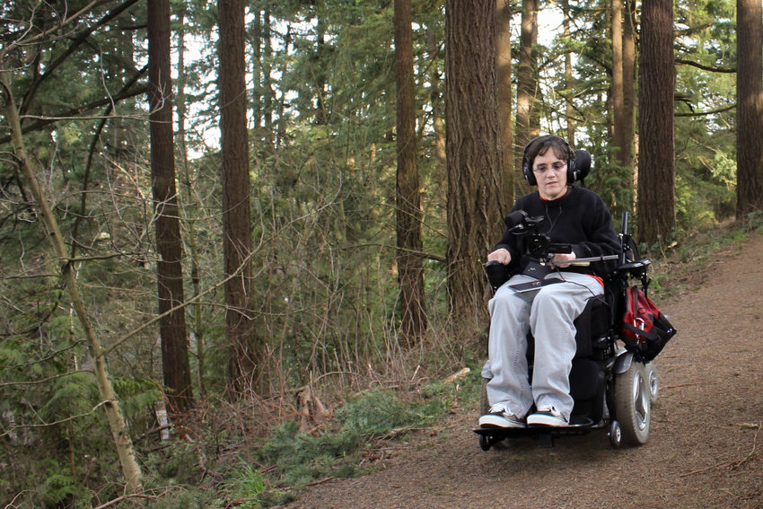Georgena Moran makes online trail maps for people with disabilities