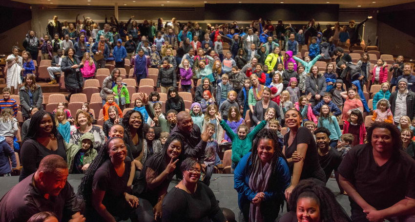audience members at the World Stage Theater's 2018 Black History Festival