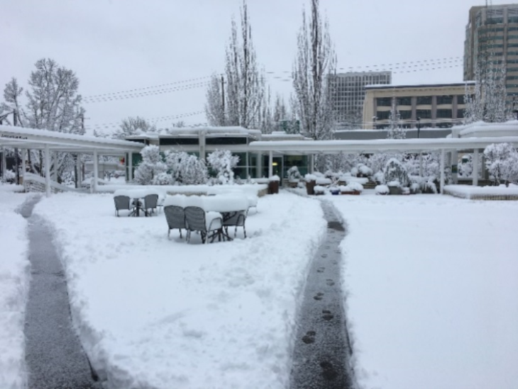 January 2017 storm in MRC plaza