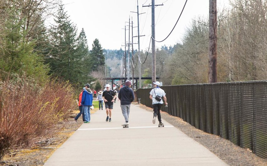 Metro trail in Tualatin