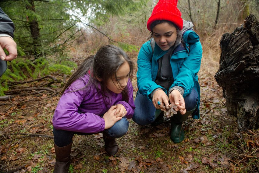 Child learning about nature at Chehalem Ridge Nature Park on National Public Lands Day