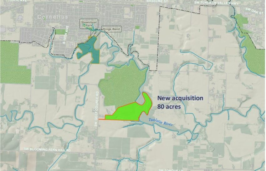 map of acquired land