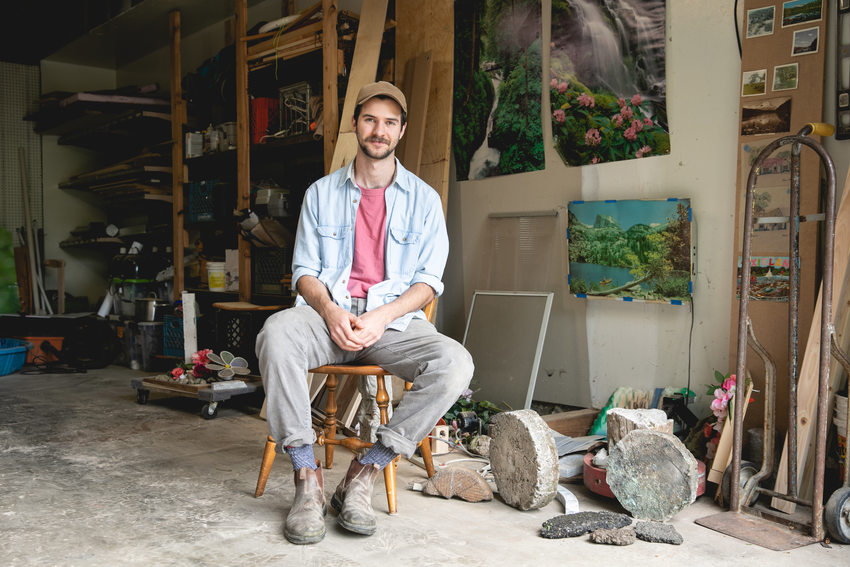 Asa Mease in his studio.