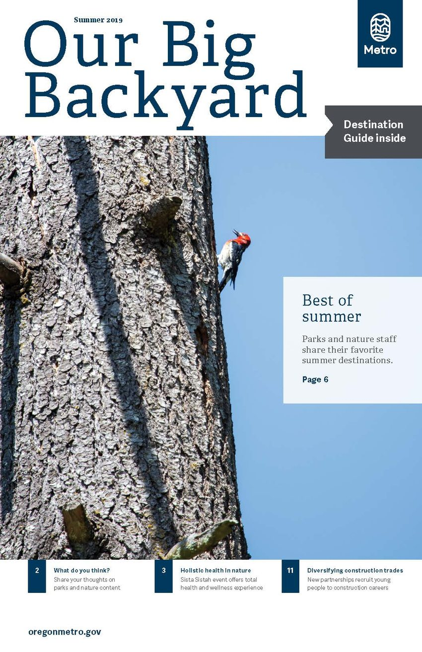 photo of cover of summer 2019 issue of Our Big Backyard