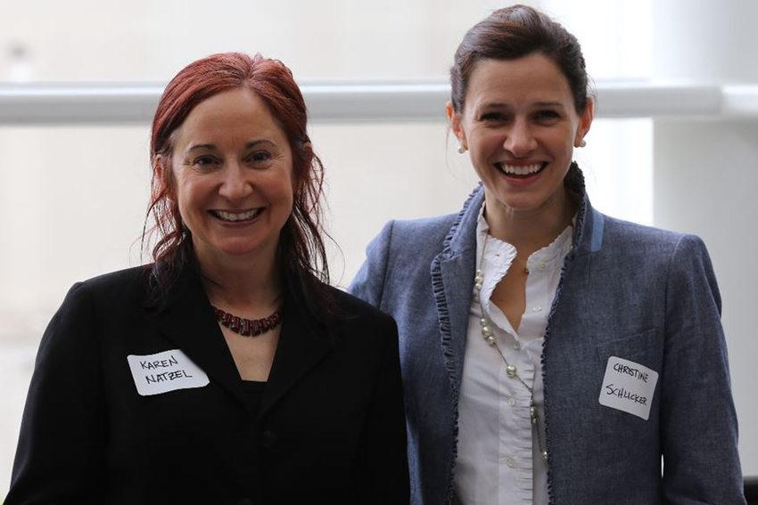 Workshop trainers Karen Natzel and Christine Schlicker
