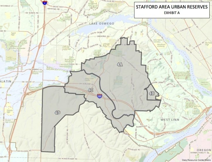 Map of the Stafford Basin urban reserves