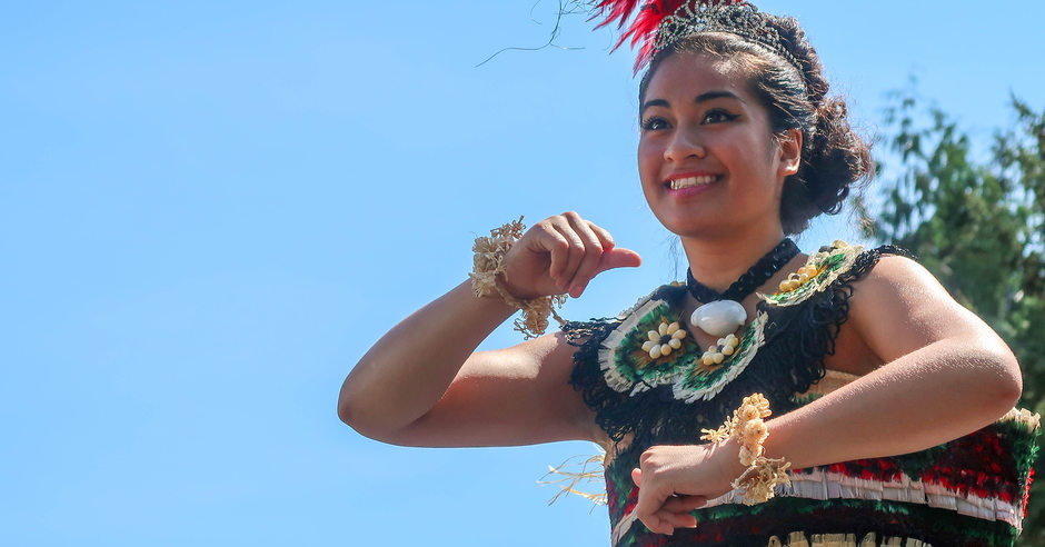 Tongan girl dancer at Tonga cultural celebration
