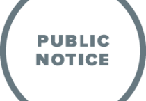 pictogram for a public notice