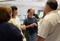 Cornelius residents discuss plans for public access to East Council Creek at an open house