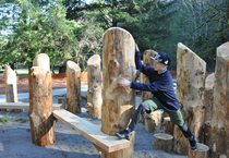 photo of new nature play area at Oxbow Regional Park