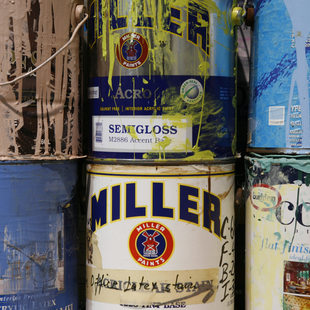 photo of used paint cans