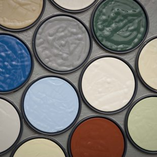 photo of MetroPaint lids and colors