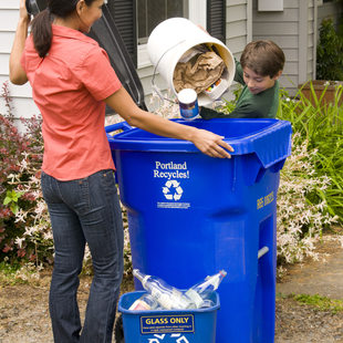 Garbage and recycling metro for Waste materials at home