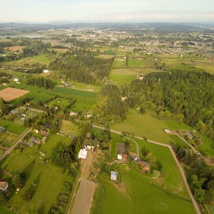 aerial photo of the Sherwood area