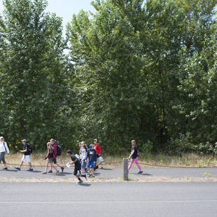 photo of kids on a walking path at Smith and Bybee