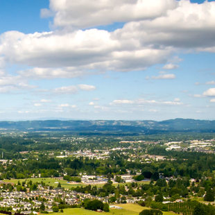 aerial photo of Hillsboro