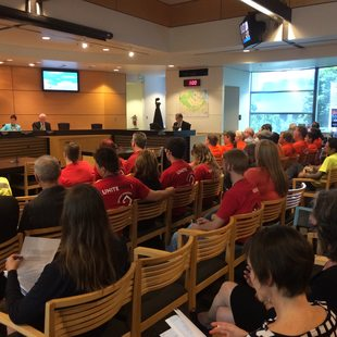 public hearing for hotel in Metro Regional Center council chamber