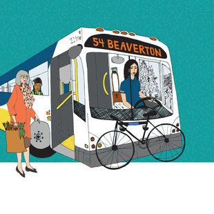 artwork for riding public transit