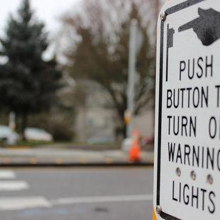 flashing beacon button