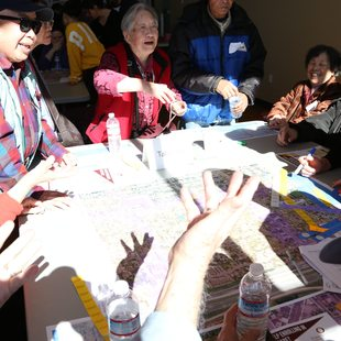 Chinese language table at Fubonn outreach event