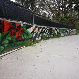 Graffiti art on Fanno Creek Trail