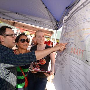 Public engagement at NAYA powwow