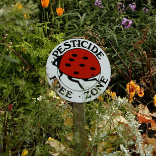photo of a pesticide free zone sign