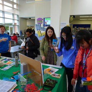 Metro staff teaching PCC students about ridesharing