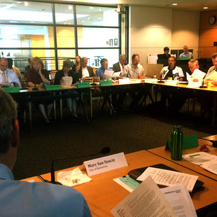 MPAC members discuss the 2015 urban growth decision on Sept. 9, 2015