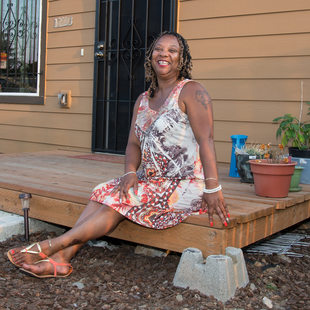 Victoria on her porch