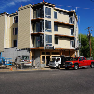 New housing under construction in North Portland