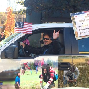 photo of Jim Caudell at Veterans Day parade