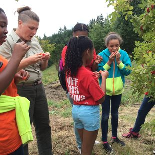 photo of Self Enhancement, Inc. students at North Abbey Creek Natural Area