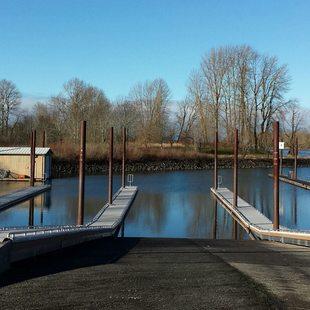 photo of new docks at Chinook Landing Marine Park