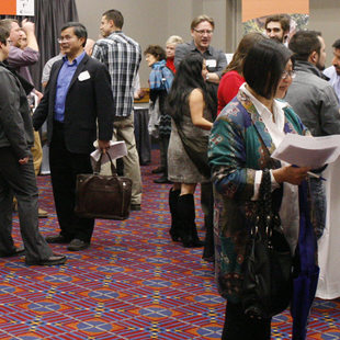 Small business owners and government officials met at the Small Business Open House Feb. 23 at the Oregon Convention Center.