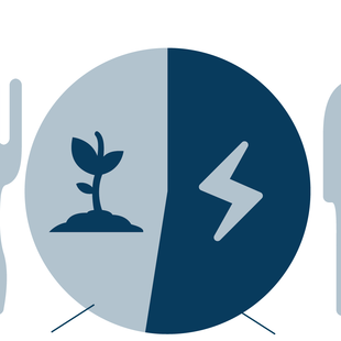 graphic of plate, fork, and knife