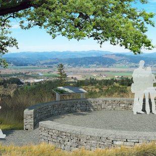 rendering of Chehalem Ridge overlook