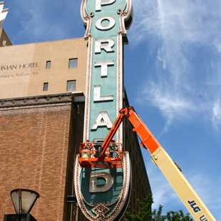 Brighter, more efficient bulbs light Portland'5 Centers for the Arts