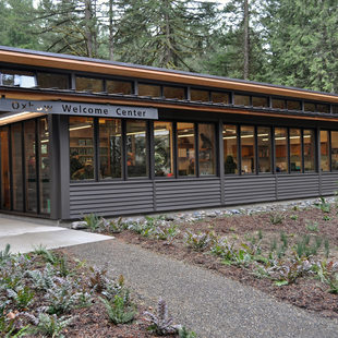 Exterior of the new Oxbow Welcome Center