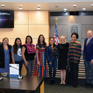 The Metro Council and presenters at the Latinx Heritage Month resolution