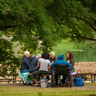 photo of people enjoying a picnic at Blue Lake Regional Park